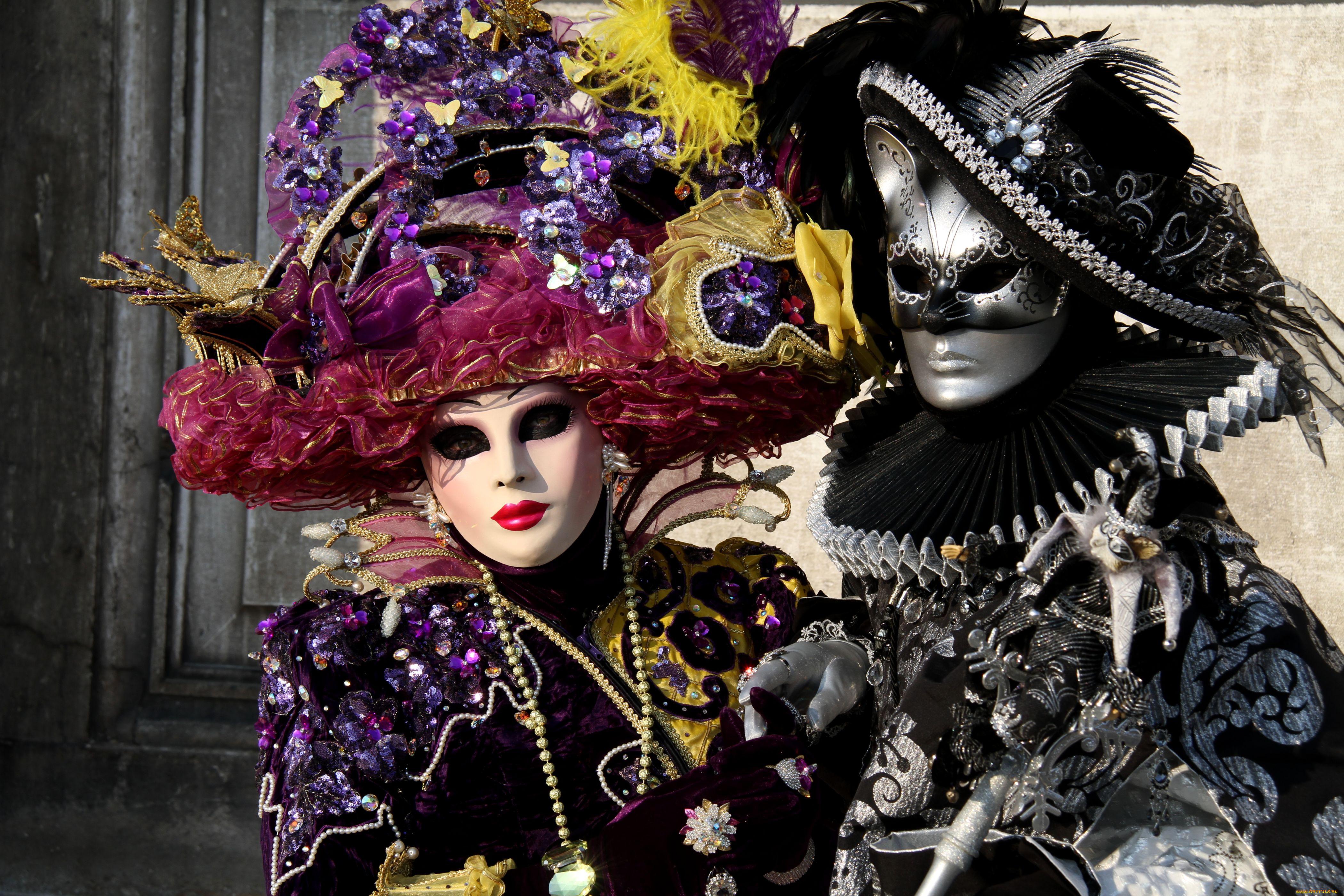 Венецианские маски обои на рабочий стол 2